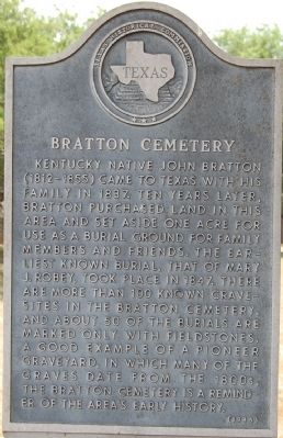 Bratton Cemetery Marker image. Click for full size.