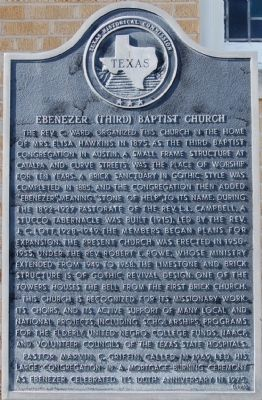 Ebenezer (Third) Baptist Church Marker image. Click for full size.