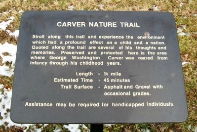 George Washington Carver Nature Trail image. Click for full size.