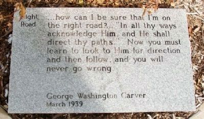 George Washington Carver's Thoughts Marker image. Click for full size.