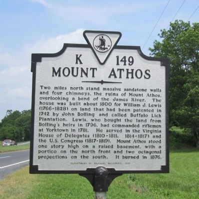 Mount Athos Marker image. Click for full size.