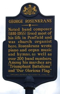 George Rosenkrans Marker image. Click for full size.