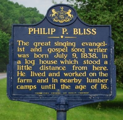 Philip P. Bliss Marker image. Click for full size.