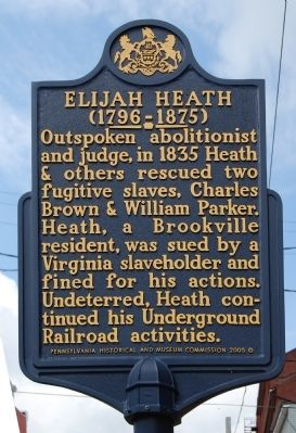 Elijah Heath Marker image. Click for full size.