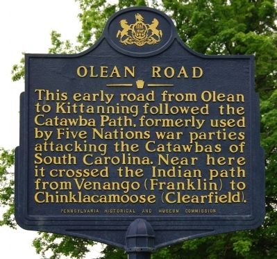 Olean Road Marker image. Click for full size.