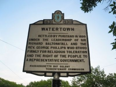 Watertown Marker image. Click for full size.