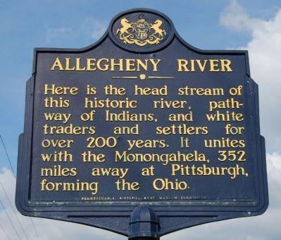 Allegheny River Marker image. Click for full size.