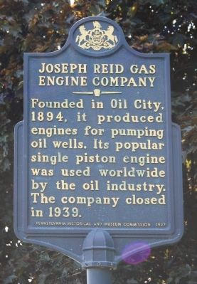 Joseph Reid Gas Engine Company Marker image. Click for full size.