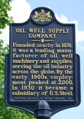 Oil Well Supply Company Marker image. Click for full size.