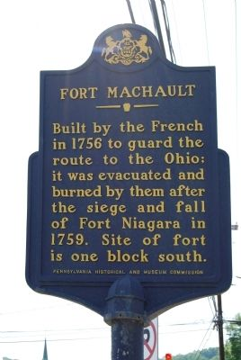 Fort Machault Marker image. Click for full size.