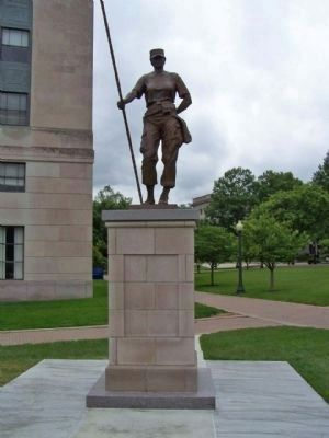 Female Veteran Statue Standing on Capitol Grounds image. Click for full size.