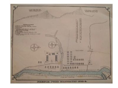 Fort Machault Map image. Click for full size.