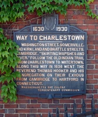 Way to Charlestown Marker image. Click for full size.