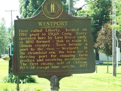Westport Marker image. Click for full size.