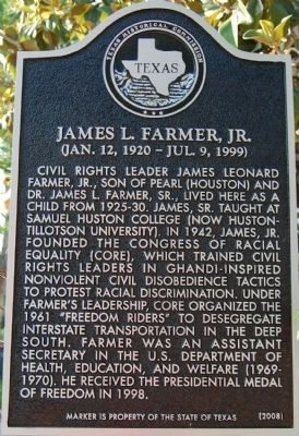 James L. Farmer, Jr. Marker image. Click for full size.