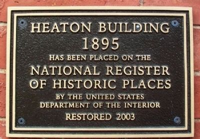 Heaton Building National Register Marker image. Click for full size.