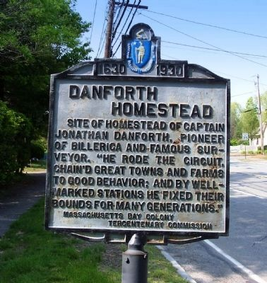 Danforth Homestead Marker image. Click for full size.