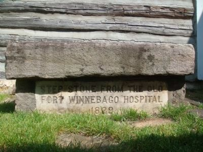 """Step Stone from Old Fort Winnebago Hospital, 1829"" image. Click for full size."