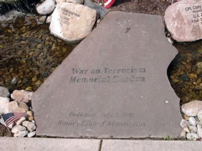 Center Walk Stone - - War on Terrorism Memorial Garden Marker image. Click for full size.