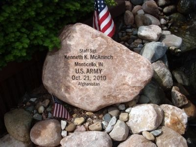 Left Engraved Rock - - War on Terrorism Memorial Garden Marker image. Click for full size.