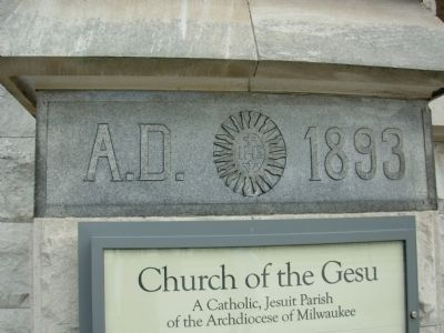 Roman Catholic Church of the Gesu Corner Stone image. Click for full size.