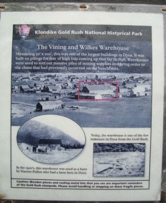 The Vining and Wilkes Warehouse Marker image. Click for full size.