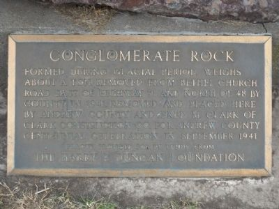 Conglomerate Rock Marker image. Click for full size.