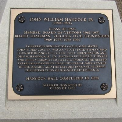 John William Hancock Jr. Marker image. Click for full size.