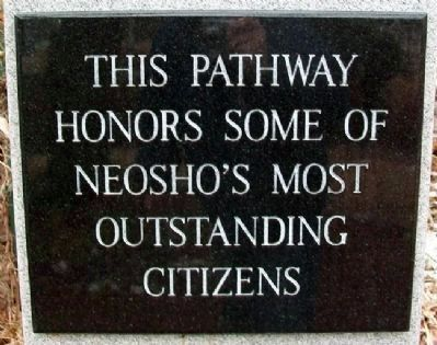Neosho's Most Outstanding Citizens Marker image. Click for full size.