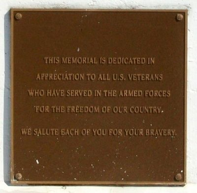Sarcoxie Veterans Memorial Marker image. Click for full size.