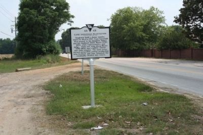 Cane Savannah Plantation Marker, looking south along St. Paul's Church Road image. Click for full size.