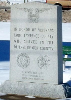 Lawrence County Veterans Memorial image. Click for full size.