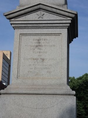 Flushing Civil War Monument (side 1) image. Click for full size.