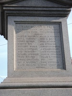 Flushing Civil War Monument (Side 4) image. Click for full size.