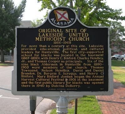 Original Site of Lakeside United Methodist Church Marker [Reverse] image. Click for full size.
