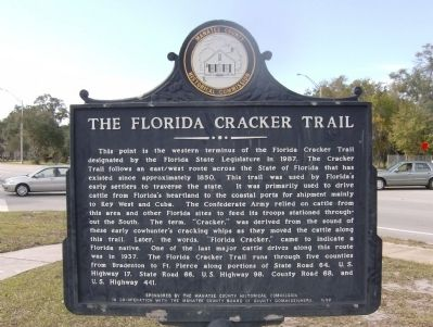 The Florida Cracker Trail Marker image. Click for full size.