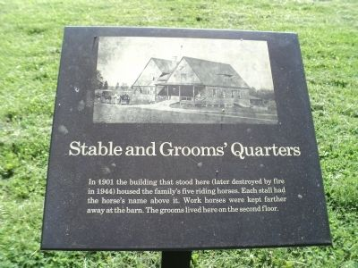Stable and Grooms' Quarters Marker image. Click for full size.