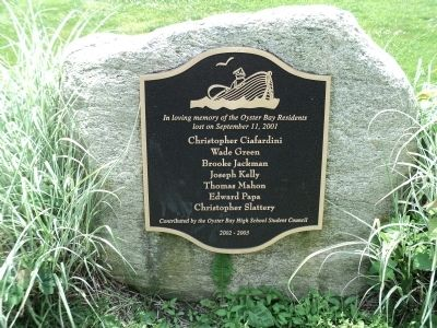 Oyster Bay 9/11 Monument Marker image. Click for full size.