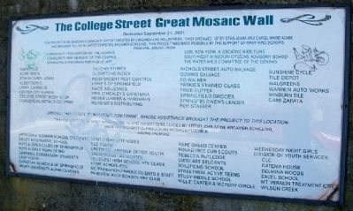 The College Street Mosaic Wall image. Click for full size.