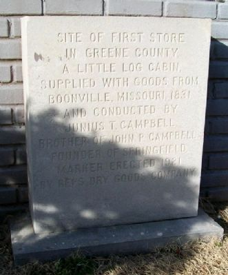 First Store in Greene County Marker image. Click for full size.