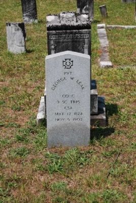 Pvt. George W. Leek Tombstone image. Click for full size.