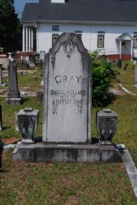 Isabell Hellams Gray Tombstone image. Click for full size.