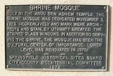 Shrine Mosque Marker image. Click for full size.