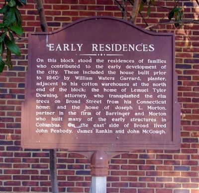 Early Residences Marker image. Click for full size.