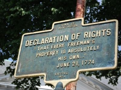 Declaration of Rights Marker image. Click for full size.