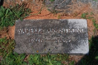 Isabelle Armstrong Tombstone image. Click for full size.