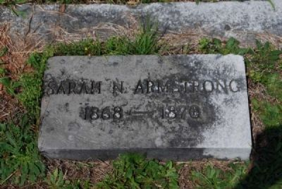 Sarah N. Armstrong Tombstone image. Click for full size.