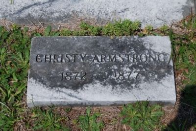 Christy Armstrong Tombstone image. Click for full size.