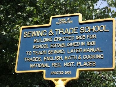 Sewing & Trade School Marker image. Click for full size.