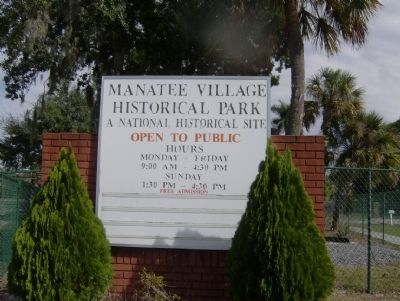 Manatee Village Historical Park Sign image. Click for full size.
